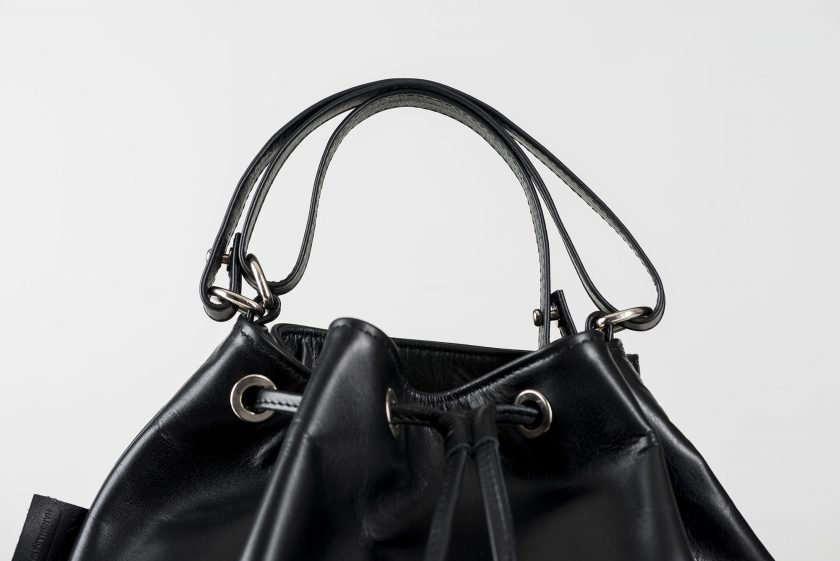 vegetable tanned leather Bucketbag