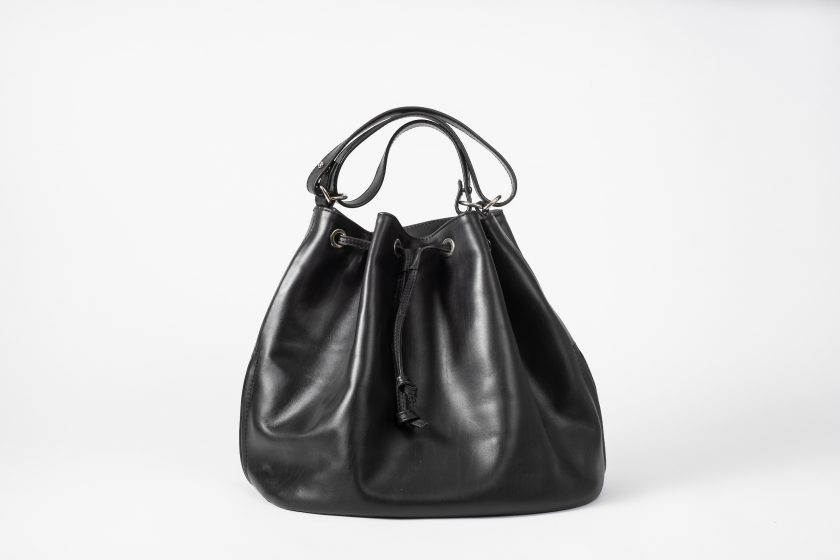 vegetable tanned leather Bucket Bag